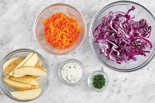 Prepare the ingredients & make the yuzu mayo