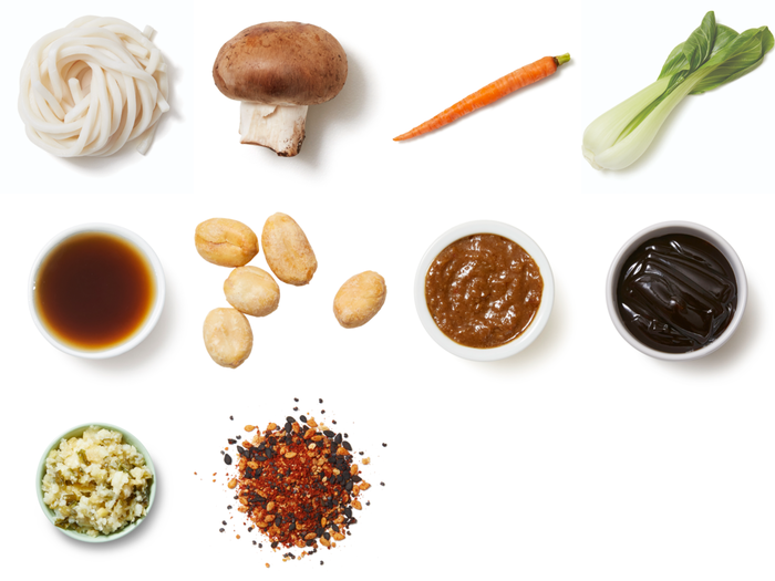 One-Pan Yaki Udon Stir-Fry with Togarashi Peanuts