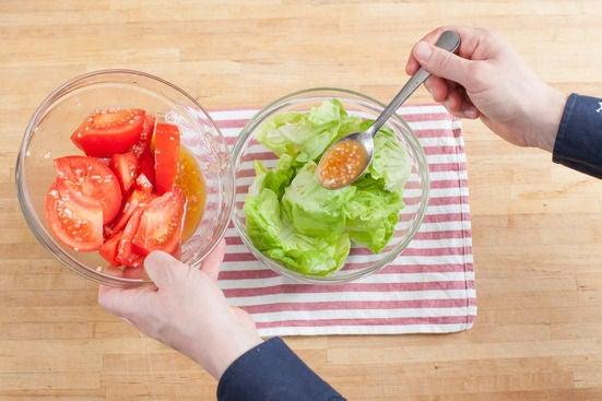 Dress the salad: