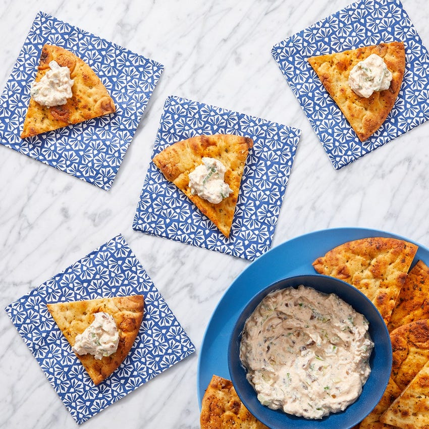 Sour Cream & Onion Dip with Pita Chips