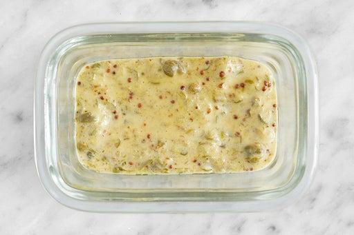 Make the Mustard-Caper Sauce