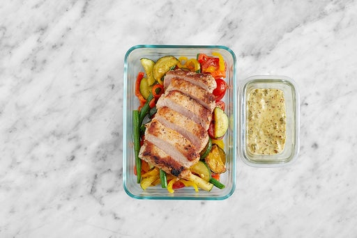 Assemble & Store the Southern Pork & Vegetables