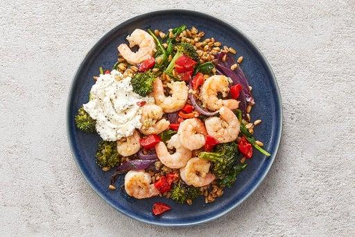 Finish & Serve the Italian Shrimp & Farro