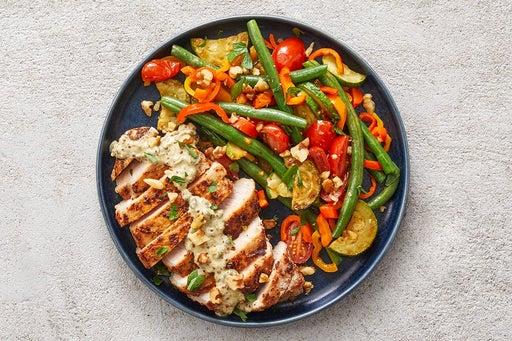 Finish & Serve the Southern Pork & Vegetables