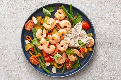 Finish & Serve the Sautéed Shrimp & Veggies