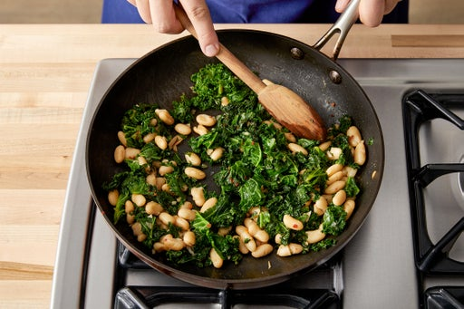 Cook the kale & beans: