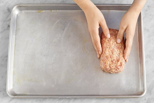 Prepare the meatloaf