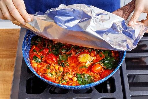 Make the shakshuka & serve your dish