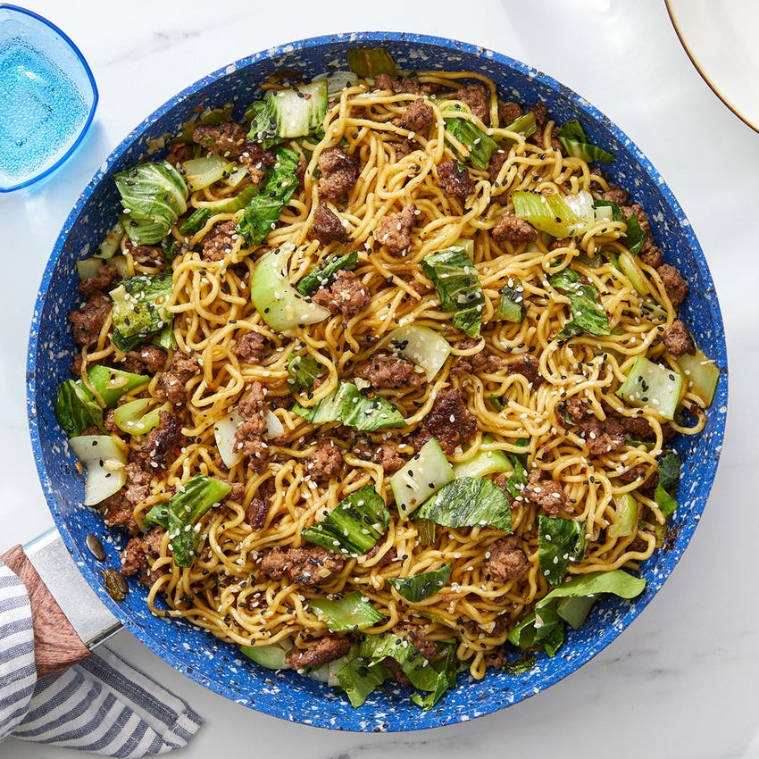 Cumin Sichuan Beef & Noodles with Bok Choy