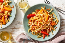 One-Pan Udon Noodle Stir-Fry with Vegetables & Peanuts