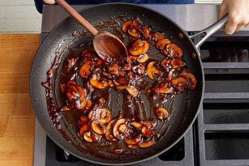 Cook & glaze the mushrooms