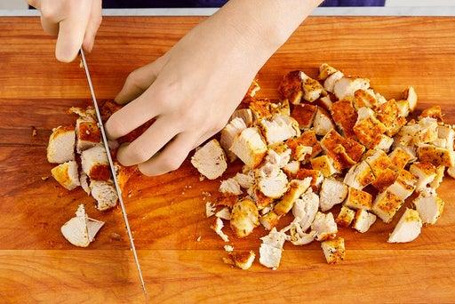 Roast & chop the chicken