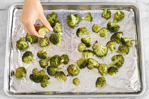 Roast the broccoli