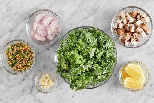 Prepare the ingredients & make the gremolata