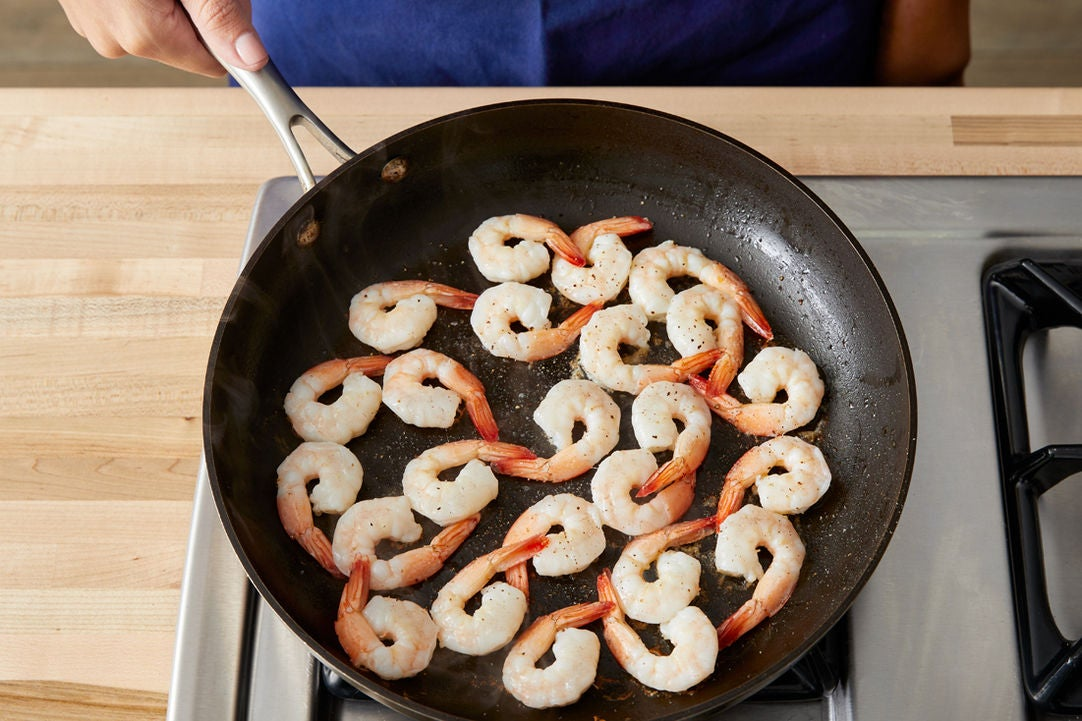 Sear the shrimp: