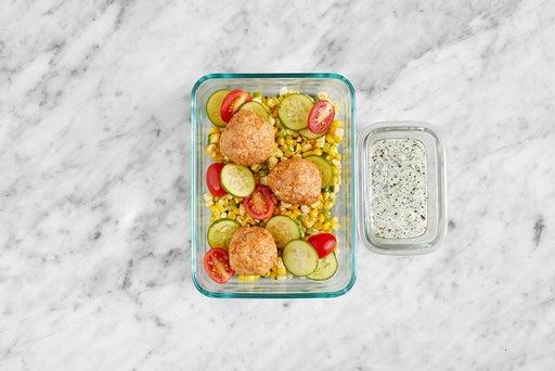 Assemble & Serve the Ricotta Turkey Meatballs