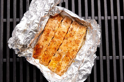 Assemble the foil packet & grill the fish