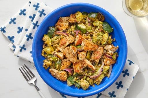 Italian Chicken & Farro Bowl with Pesto