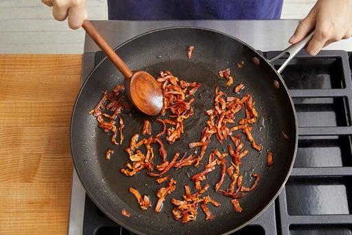 Crisp the prosciutto