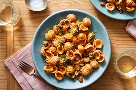 Creamy Tomato Orecchiette with Broccoli & Crispy Breadcrumbs
