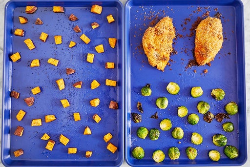 Roast the chicken & vegetables