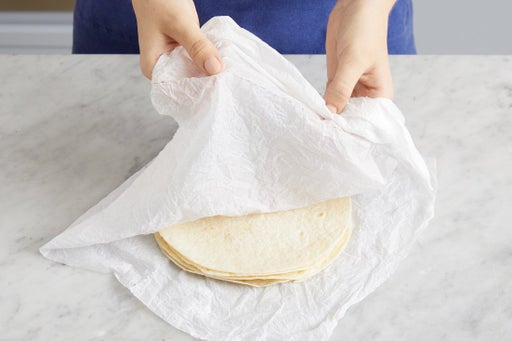 Warm the tortillas & serve your dish