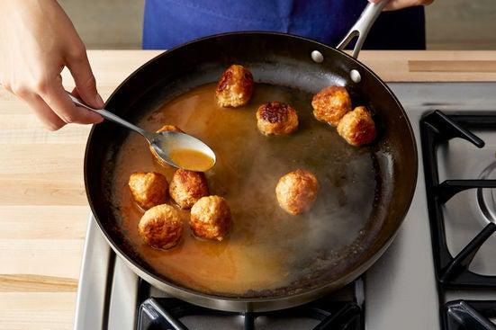Finish the meatballs: