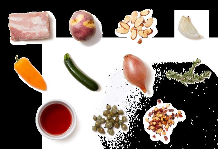 Florentine Roast Pork & Salsa Verde with Sautéed Vegetables