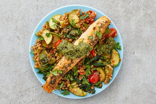Finish & Serve the Italian Salmon & Veggie Farro