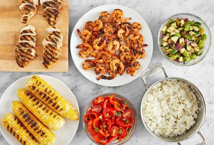 Grilled Chicken & Shrimp Meal Prep Bundle