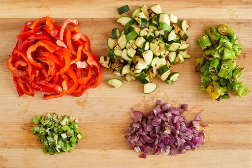 Finish the vegetables & make the salsa