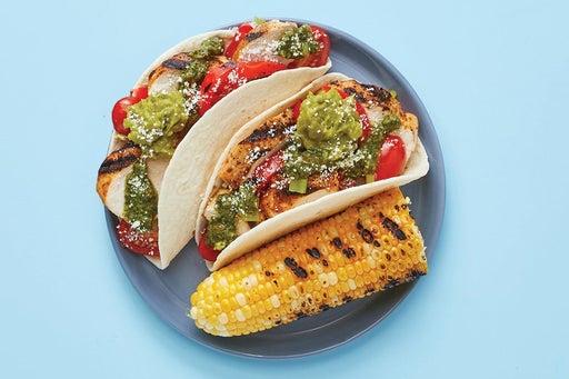 Finish & Serve the Spicy Cilantro Chicken Tacos