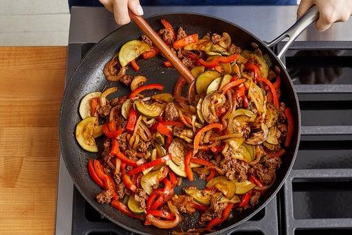Cook the Beyond Beef™ & vegetables