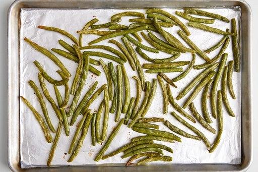Roast the green beans