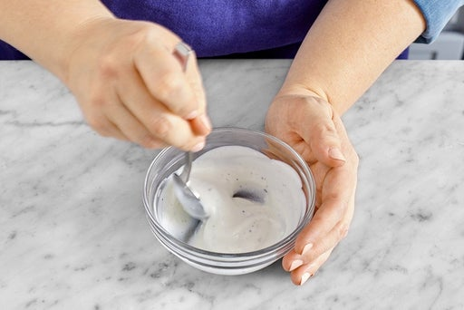 Season the yogurt & serve your dish