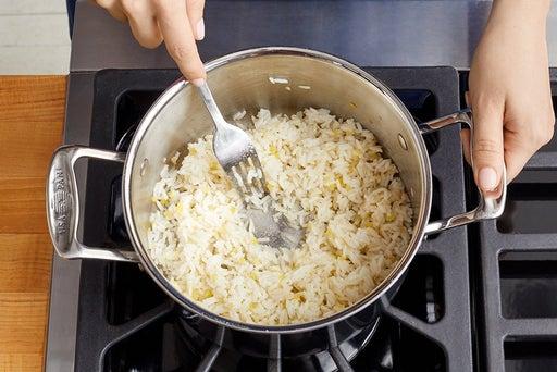 Make the aromatic rice