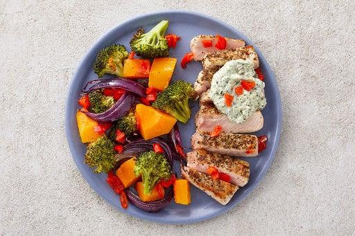 Finish & Serve the Italian Pork & Roasted Veggies