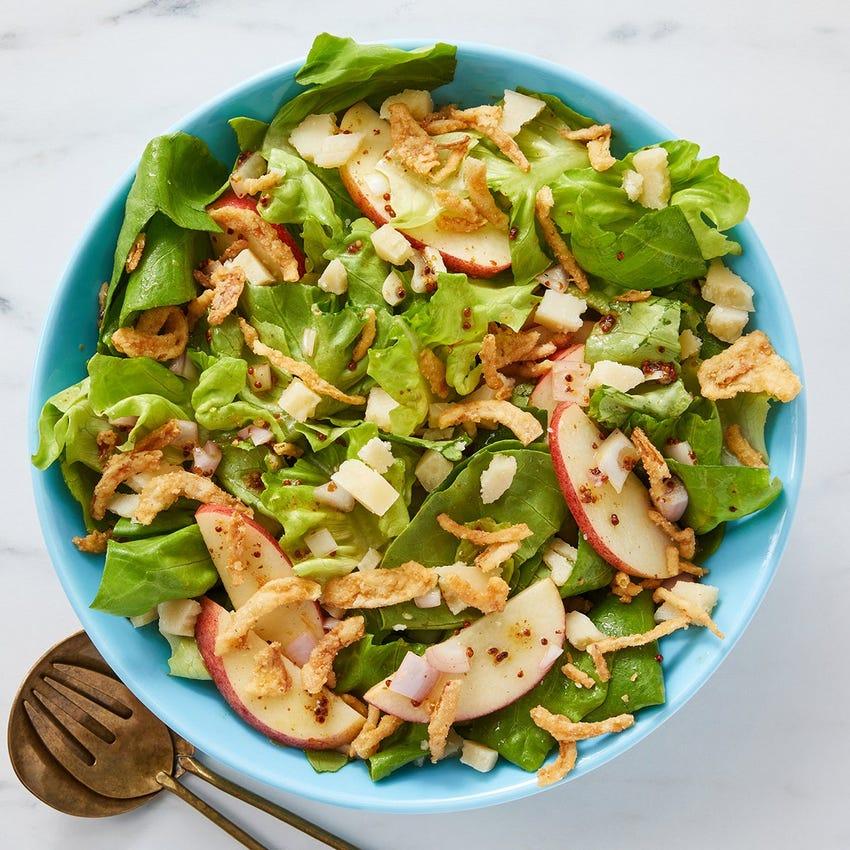 Butter Lettuce & Apple Salad with Grana Padano & Dijon Vinaigrette
