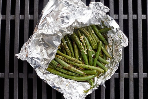 Grill the green beans & finish the potatoes