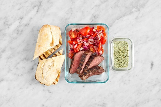 Assemble & store the Steak Sandwiches