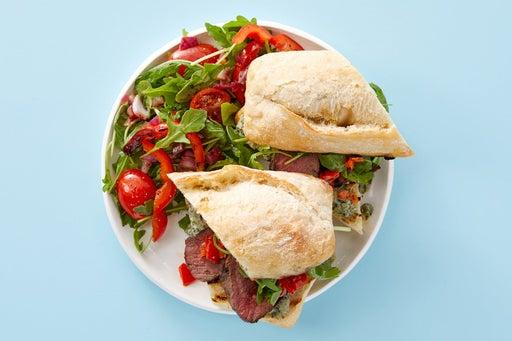 Finish & serve the Steak Sandwiches