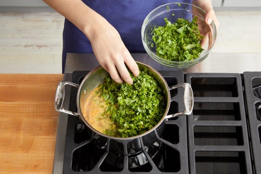 Make the kale rice