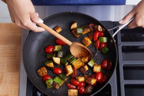 Cook & glaze the vegetables