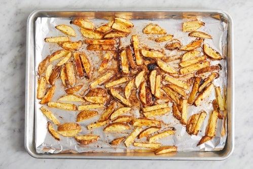 Prepare & roast the oven fries