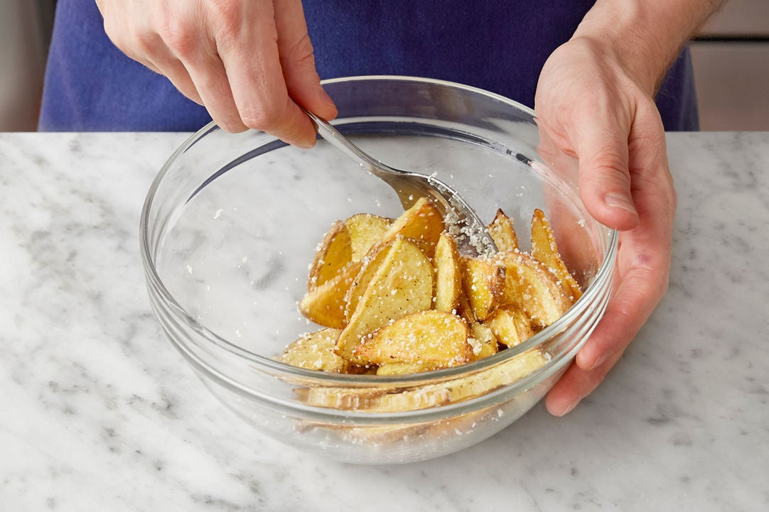 Finish the potatoes: