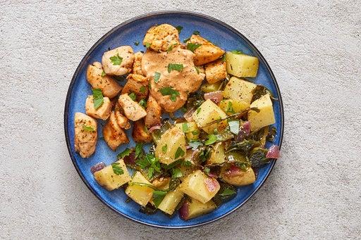 Finish & Serve the Creamy Calabrian Chicken