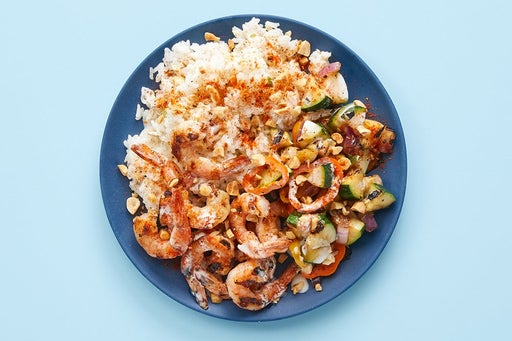 Finish & serve Togarashi Shrimp