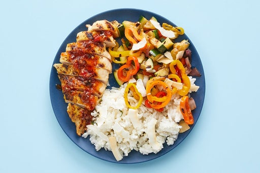 Finish & serve the Spicy Sweet Chili Chicken