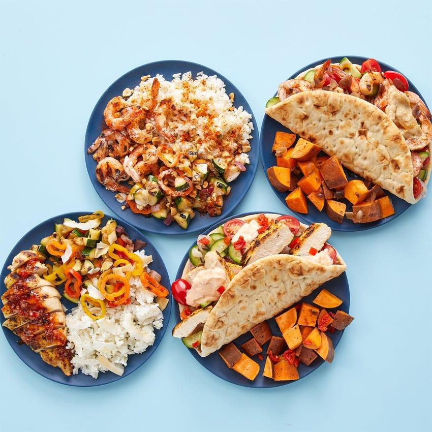 Grilled Shrimp & Chicken Meal Prep Bundle