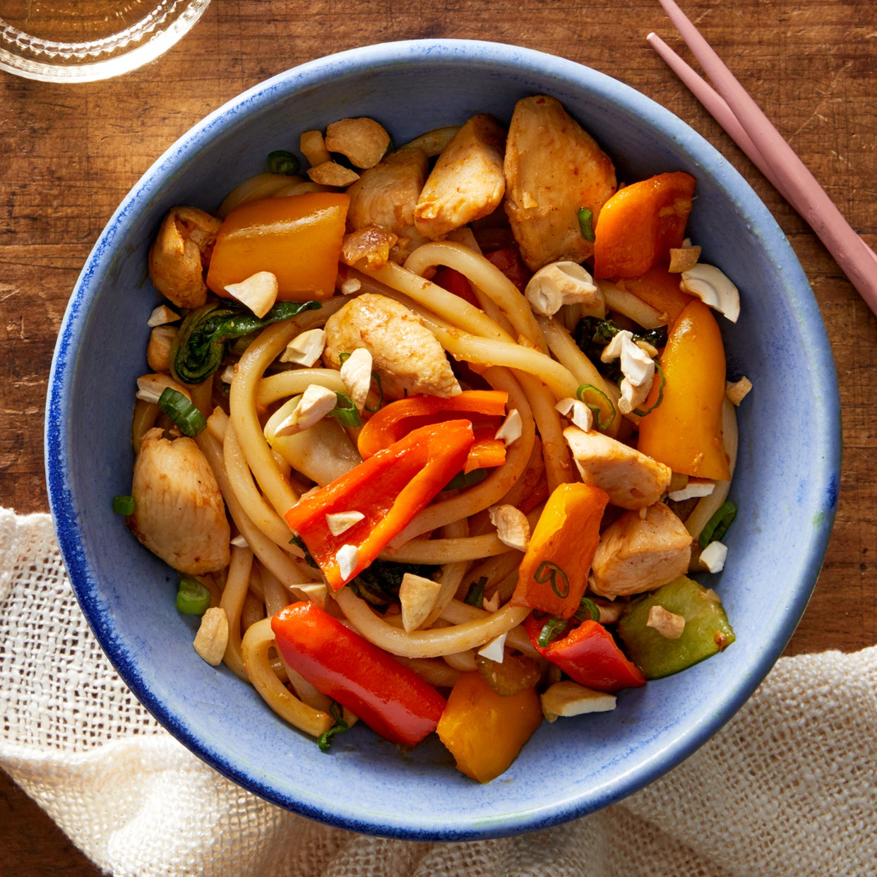 One-Pot Chicken Stir-Fry with Udon Noodles